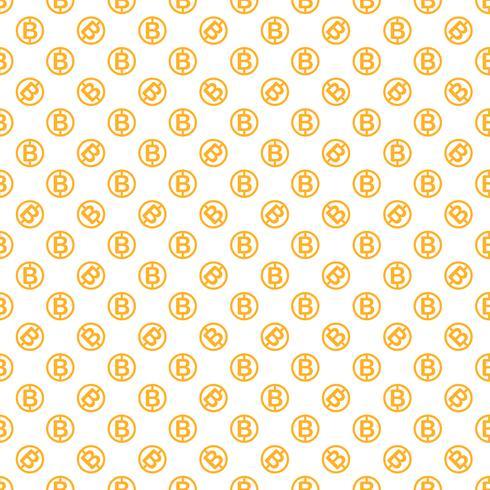 Vektor nahtlose Muster mit Bitcoins. Kryptowährung, die Hintergrund wiederholt.