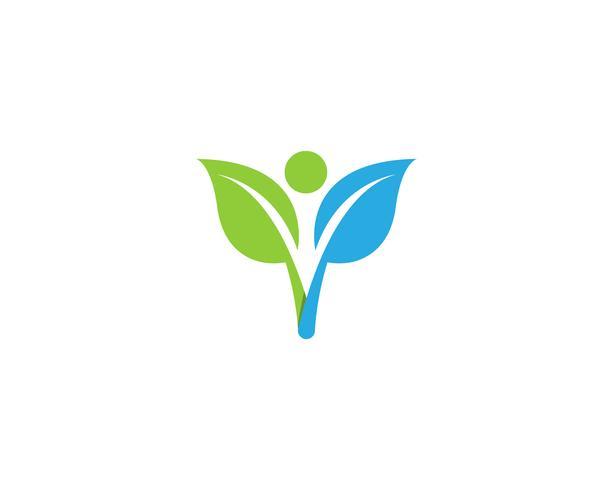 Logozeichenillustrations-Vektordesign des menschlichen Charakters