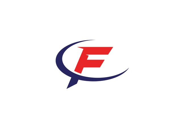 F logo and symbols template vector