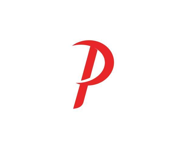 Logotipo de la empresa P diseño corporativo corporativo.