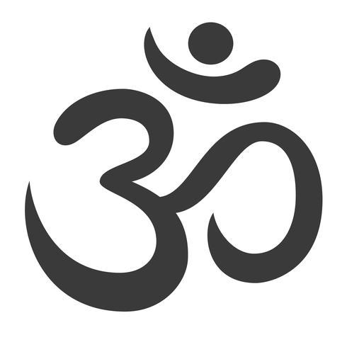 Símbolo de Aum Om Ohm vector