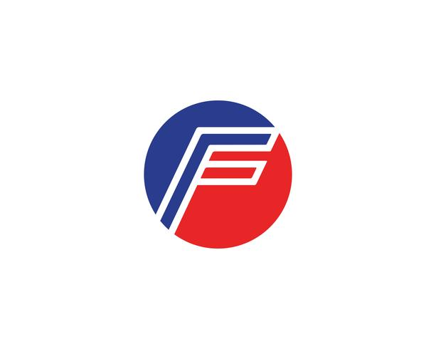 Vector de plantilla de logotipo y símbolos F