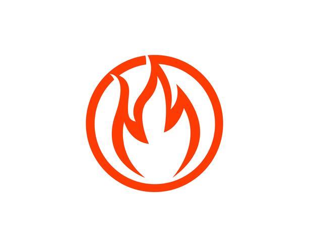 Diseño de ilustración de vector de llama de fuego