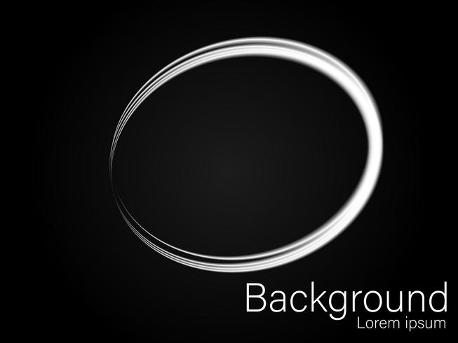 Sparkling silver, circular brush, isolated on a black background vector