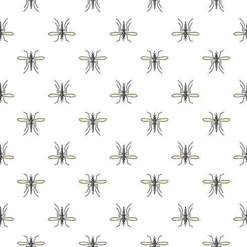 Mosquito vector sin patrón para el diseño textil, papel pintado, papel de embalaje