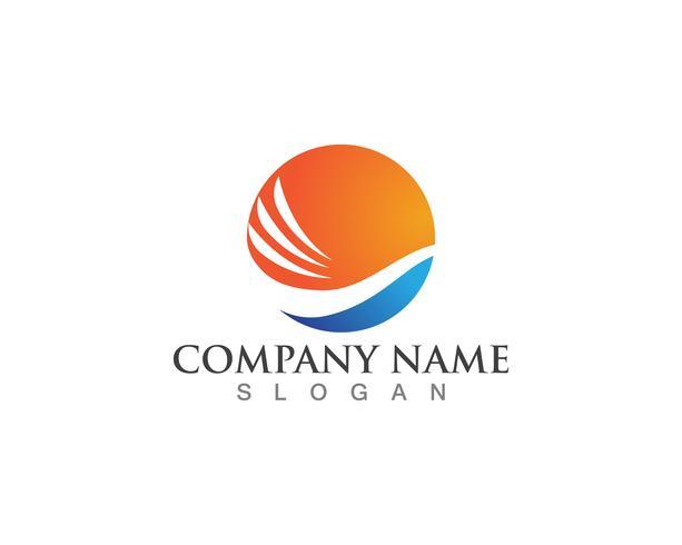 Wave logo vector template