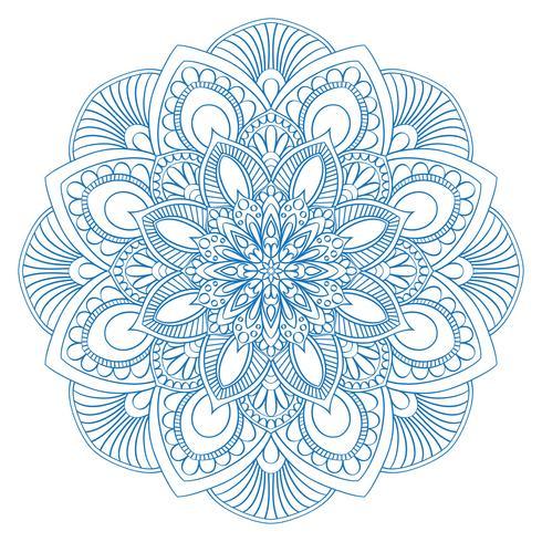 Etnisch mandalasymbool voor het kleuren van boek. Anti-stress therapie patroon. Vector abs