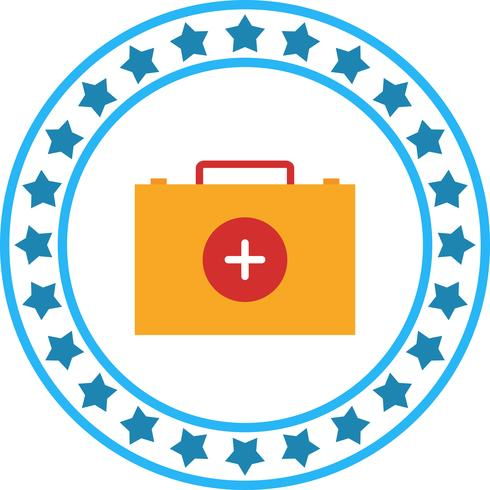 Vector icono de caja de primeros auxilios