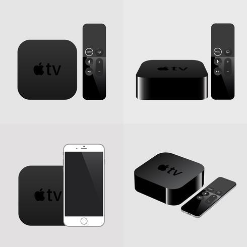 Smart-tv met afstandsbediening en smartphone, moderne airplay-televisie