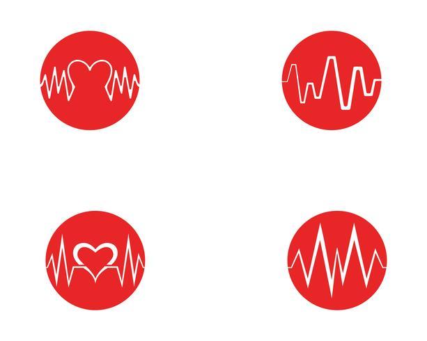 Art design health medical heartbeat pulse vector