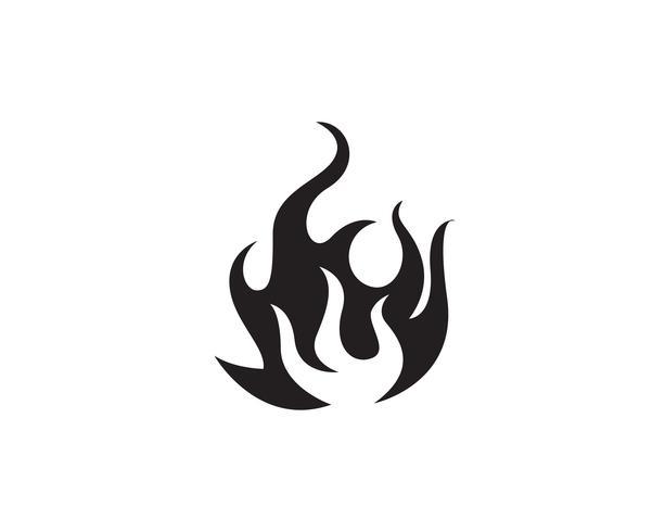 Conception illustration vectorielle feu flamme