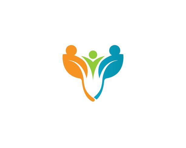Caractère humain logo signe illustration vectoriel