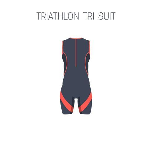 Triathlon-Tri-Anzug. vektor