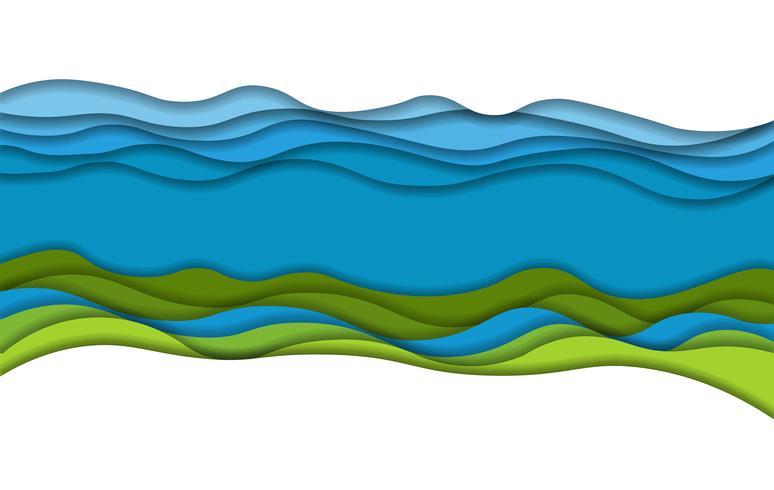 papel arte paisaje