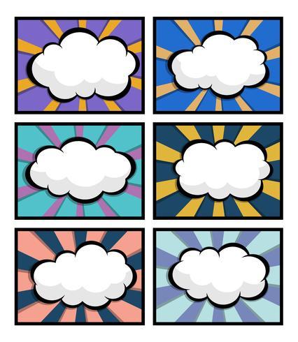 uppsättning av serietidning, popkonst med blank talbubbla