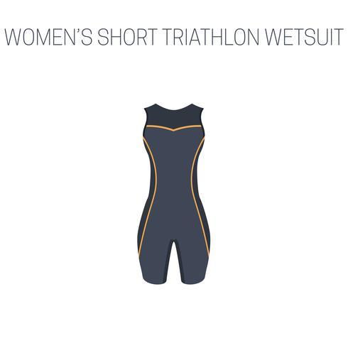Triathlon Damen Kurzarm Neoprenanzug vektor