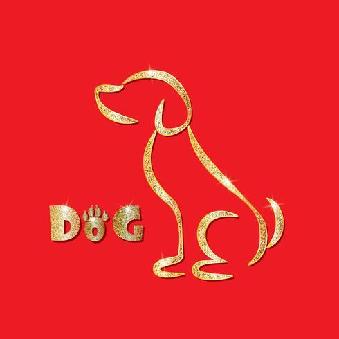 Bakgrund. Vektor teckning av 2018 för det asiatiska månåret. År av hunden. Gott nytt år, all fred och välstånd.