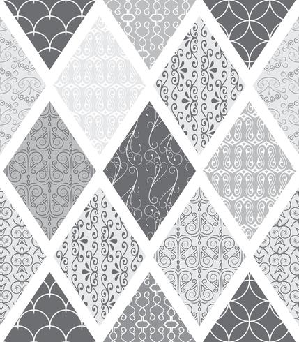 Set med art deco sömlösa mönster. Snygga moderna texturer. abstrakt bakgrund vektor