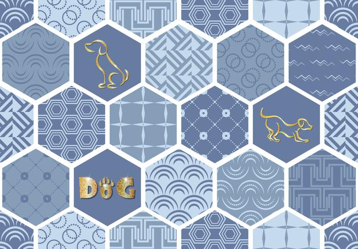 Set of art deco seamless patterns. Stylish modern textures. abstract backgrounds vector