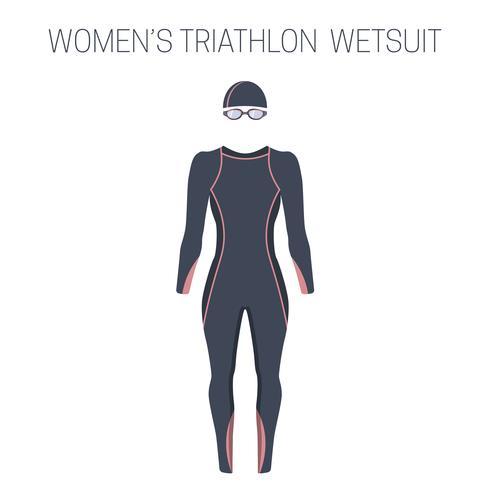 Triathlon kvinnors fullsleeve våtdräkt