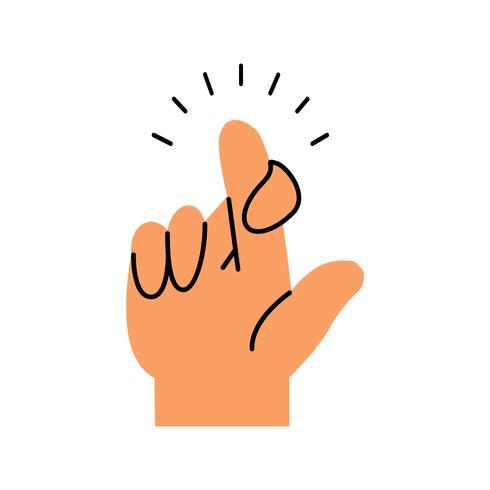 Finger, die gekreuztes gestikulierendes Konzept machen