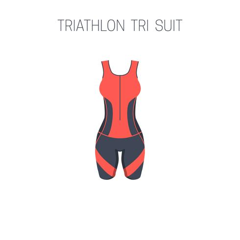 Women triathlon tri suit. vector