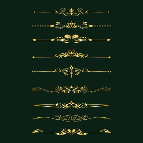 Elementos de diseño caligráfico. Divisores, marcos de diferentes formas. Vector