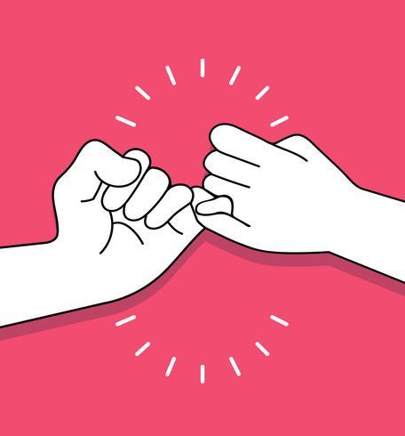 mãos fazendo o conceito de vetor de promessa