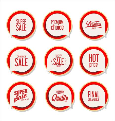Modern badges stickers and labels collection vector