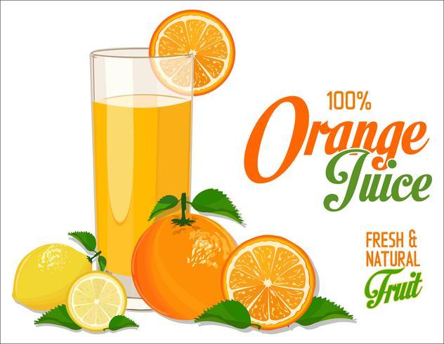 Orangensaft Hintergrund vektor