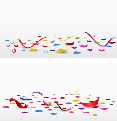 confetes de celebração em fundo branco