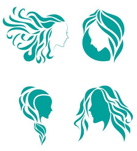 Cabelo moda ícone símbolo da beleza feminina