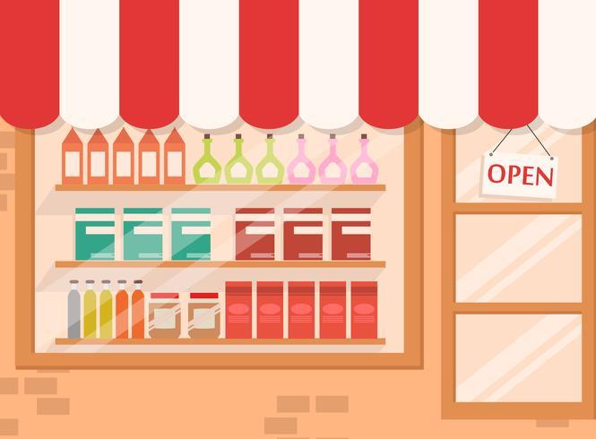 Winkel en markt achtergrond