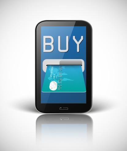 E-Commerce-Konzept mit Smartphone und Kreditkarte