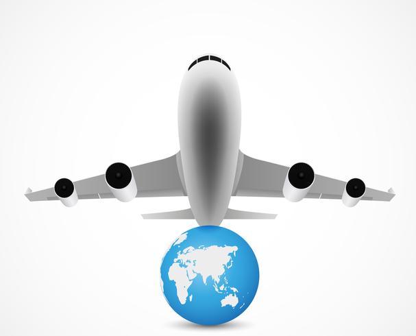 avião voando com viagens pelo mundo
