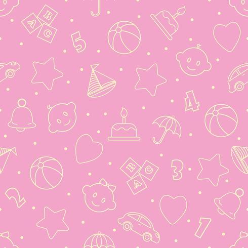 Bebé juguetes de patrones sin fisuras. Puede ser utilizado para textiles, papel y otros diseños. vector