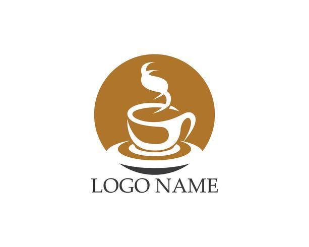 Vettore di logo icona tazza di caffè