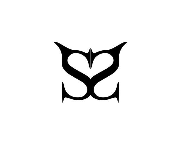 Plantilla de vector de logotipo de carta de negocios