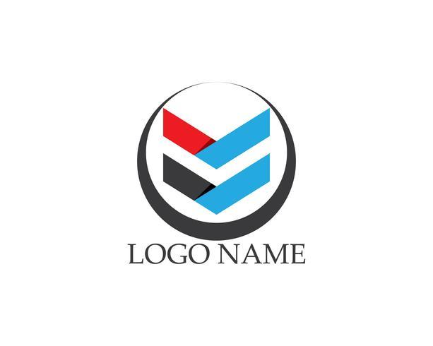 Zakelijke pijl logo vector sjabloon