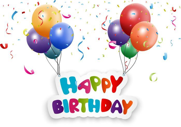 Feliz aniversário saudação fundo