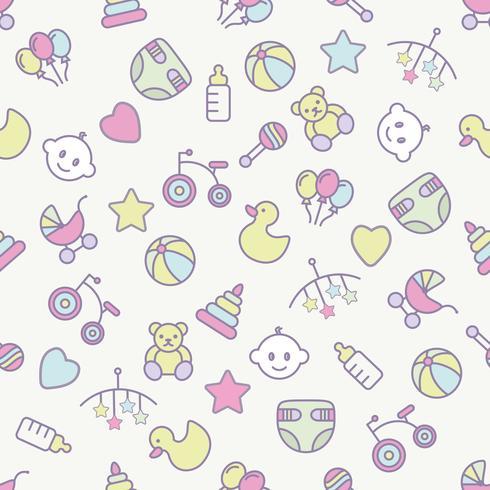 Bebé juguetes de patrones sin fisuras. Puede ser utilizado para textiles, papel y otros diseños.