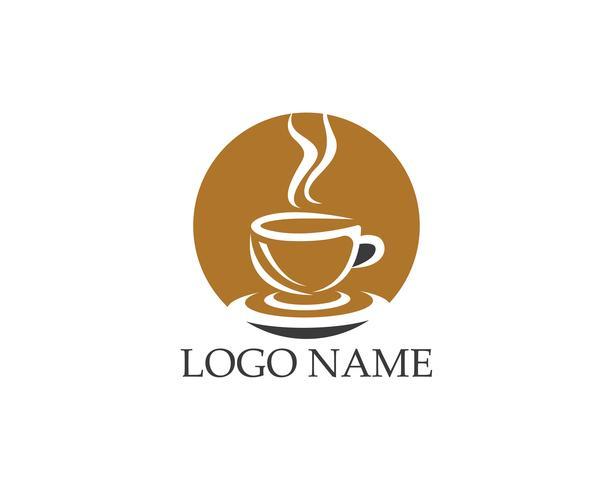 Coffee cup icon logo vector