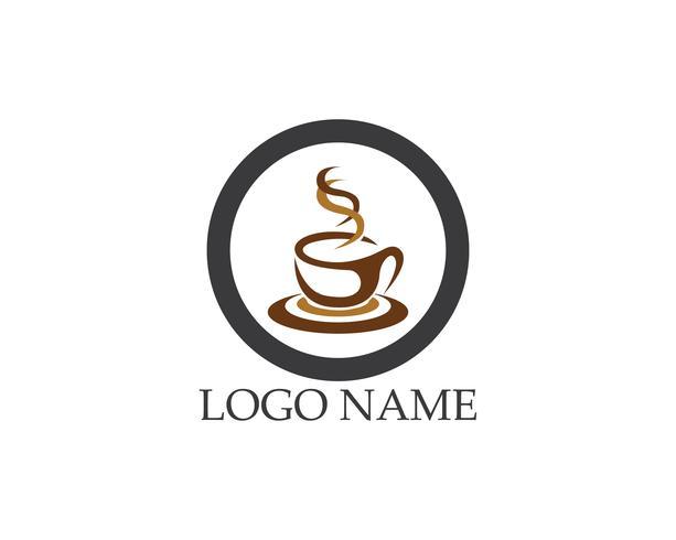 Kaffeetasse Logo Template-Vektorikonendesign