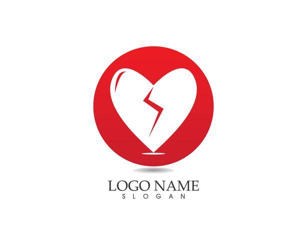 Liebe Symbol Logo Vektor