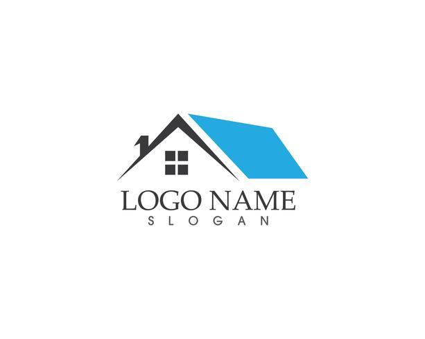 Immobilien- und Gebäudehauptlogovektor