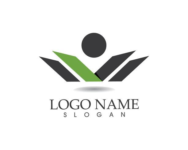 W Brief Menschen Logo Vektor