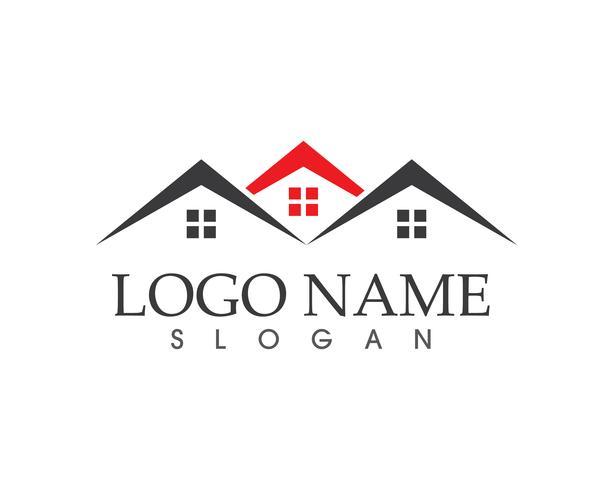 Immobilier et bâtiment vectoriel logo maison