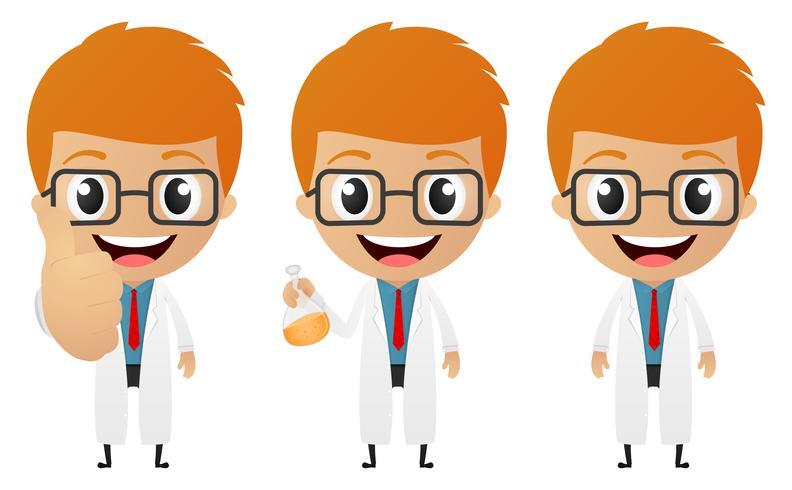 cartone animato giovane scienziato