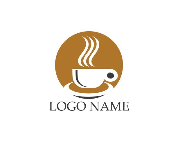 Coffee cup icon logo vector