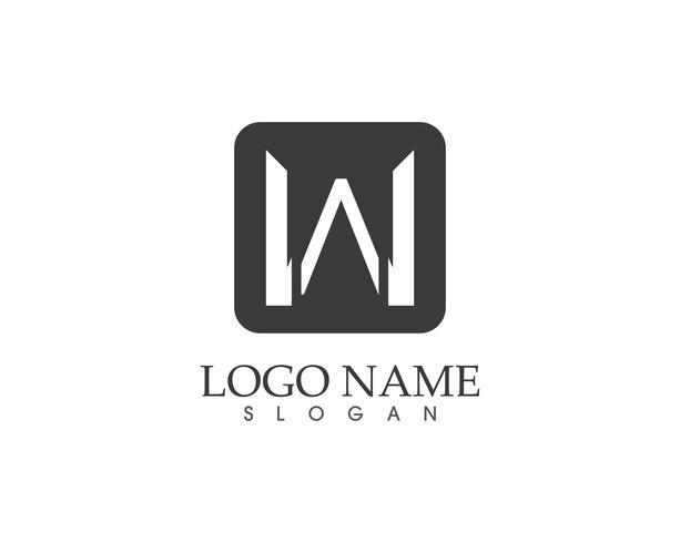 W brief vector logo sjabloon
